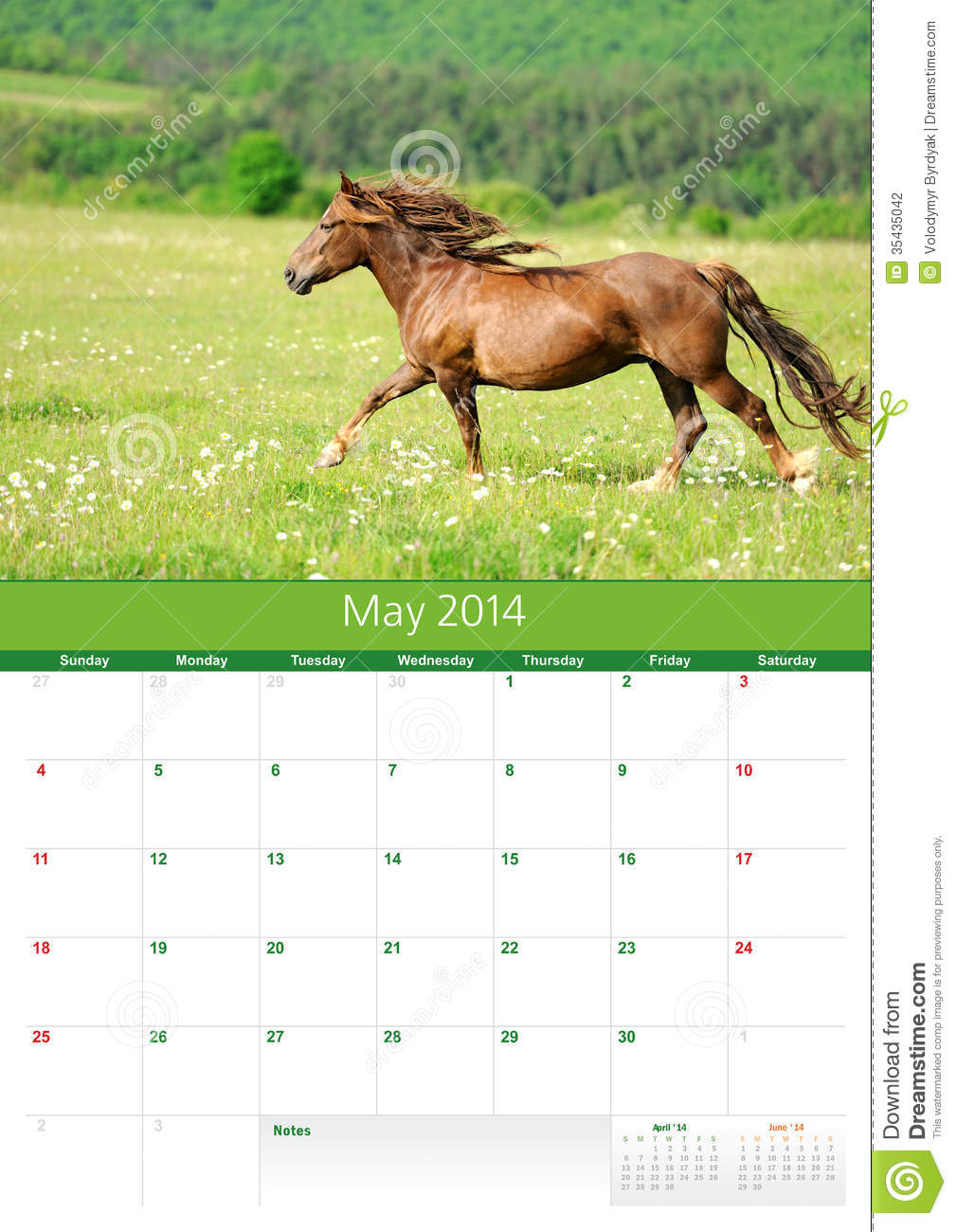 Calendar Monthly For Print : Calendar horse may stock photo image of week