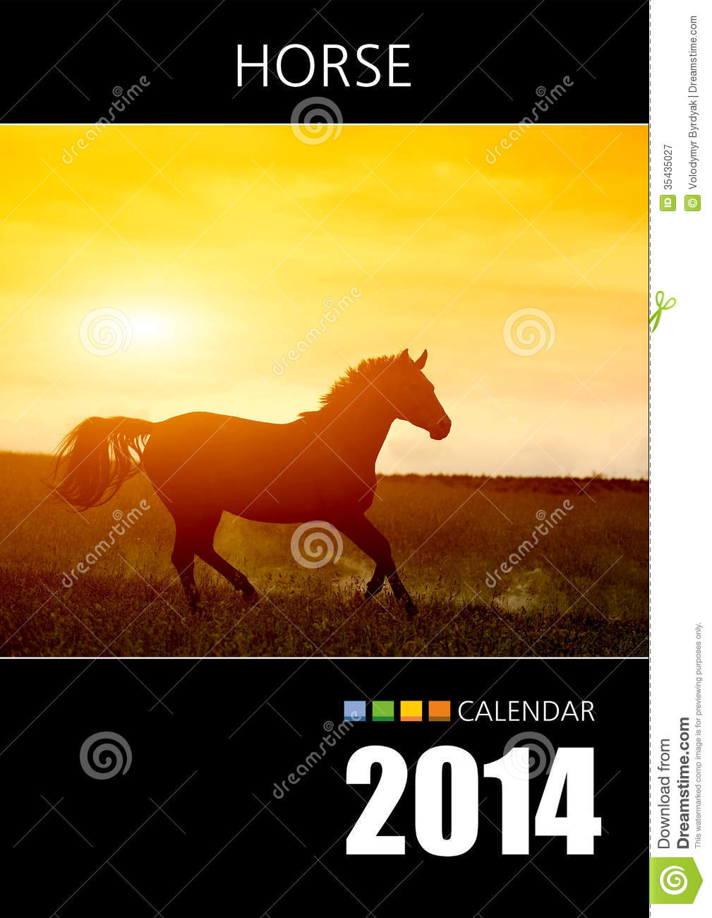 Calendar Cover Design 2014 : Calendar stock image of paper planner