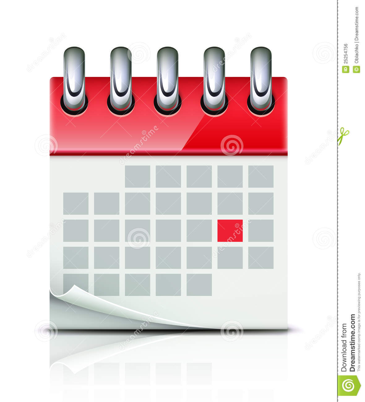 Calendar Illustration Vector : Calendar icon stock vector illustration of deadline