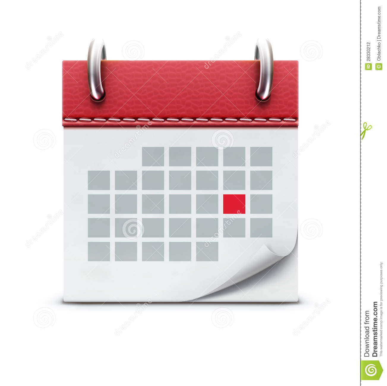 Calendar Illustration Vector : Calendar icon stock vector illustration of element