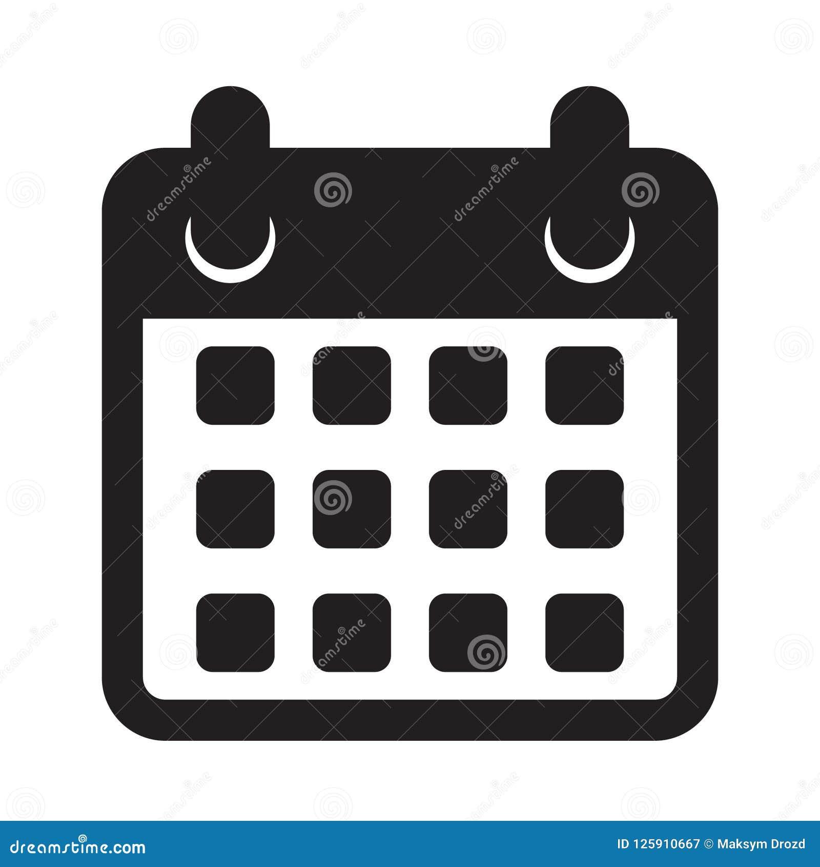 Calendario Icona.Calendar Icon Calendar On The Wall Stock Vector
