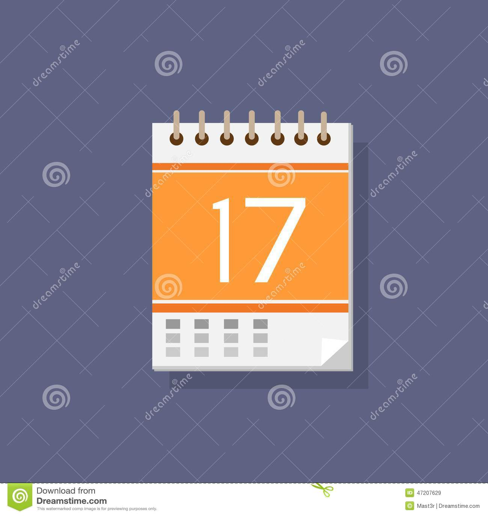 Calendar Flat Illustration : Calendar vector icon illustration cartoondealer