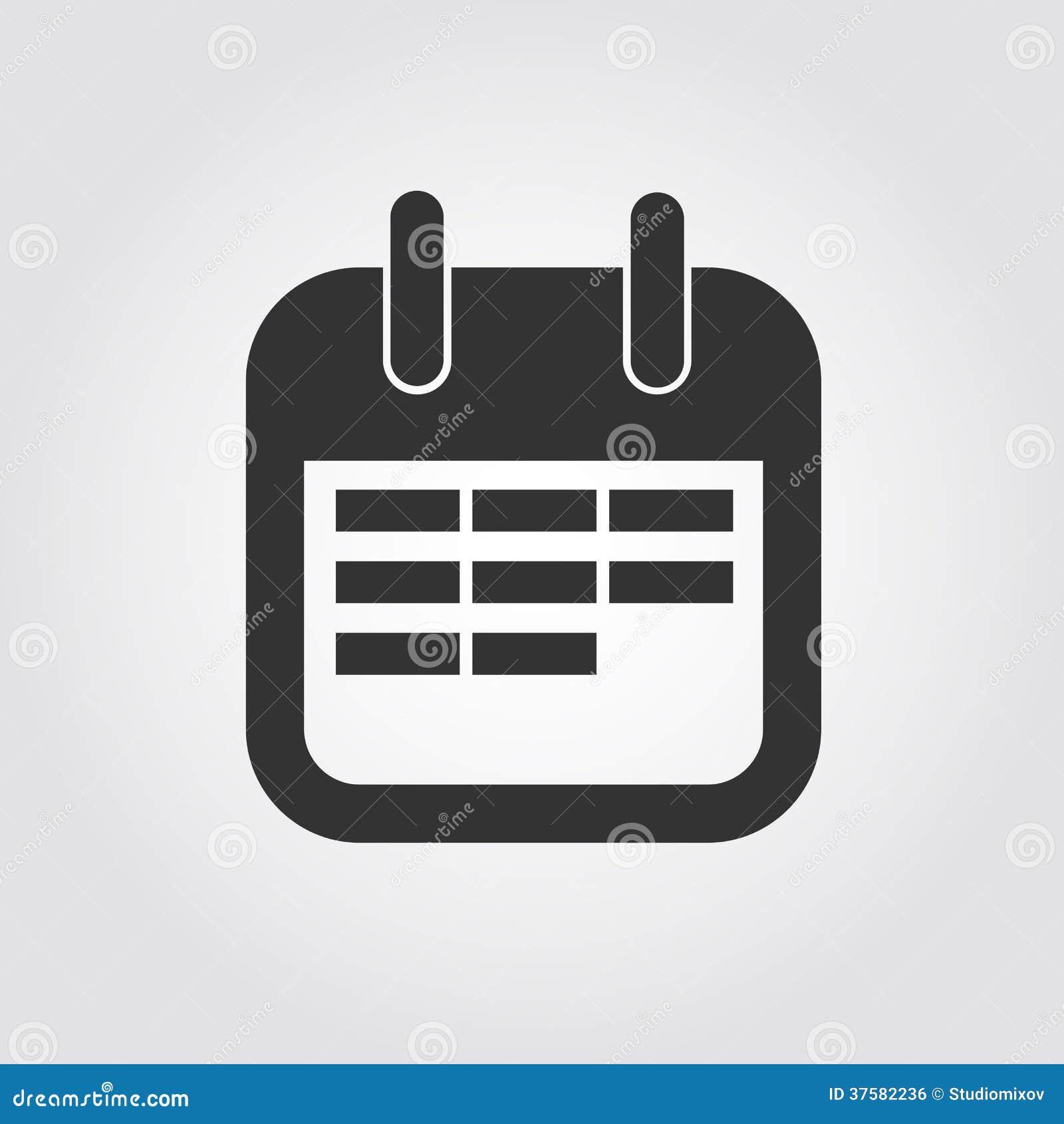 Calendar Design Icon : Calendar icon flat design royalty free stock image