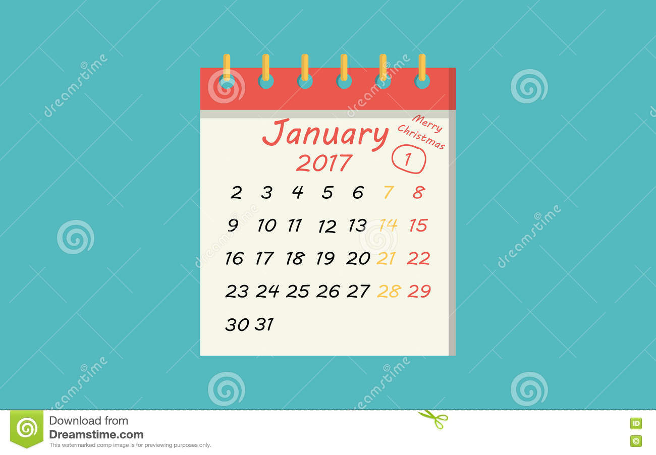 calendar icon flat of january 1 new year day stock vector illustration of calendar business 79624423 dreamstime com