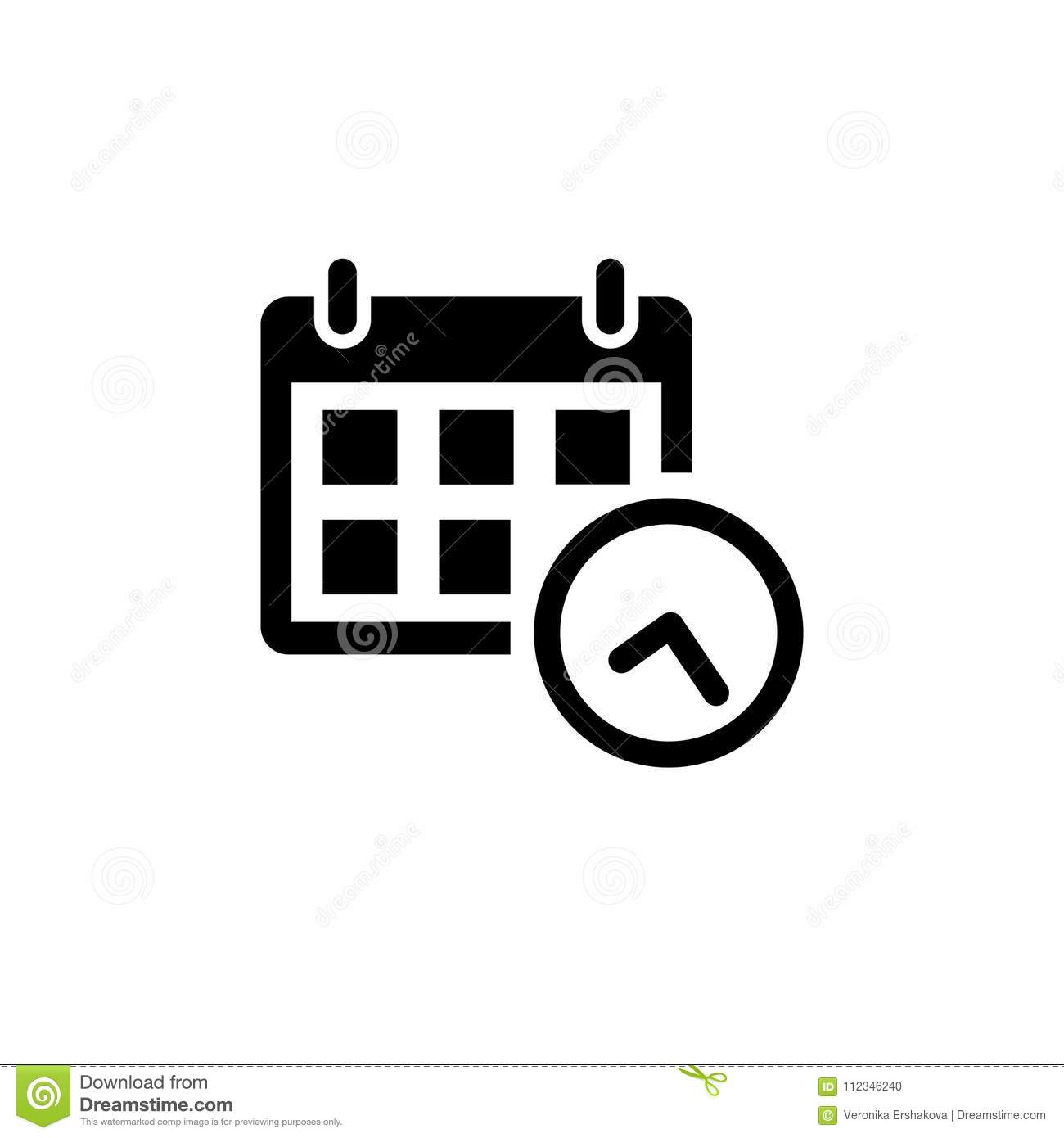 calendar icon in flat style stock vector illustration of isolated