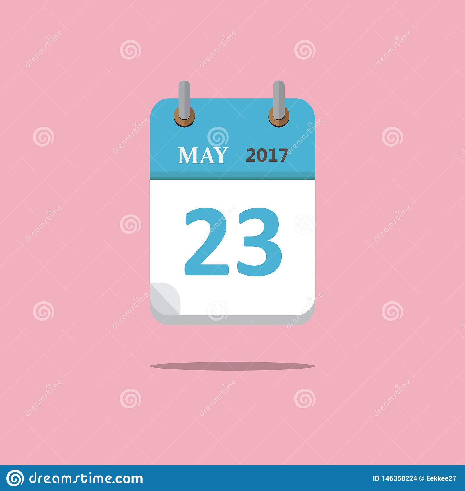 Calendar icon flat style on pink background. Vector. Illustration.