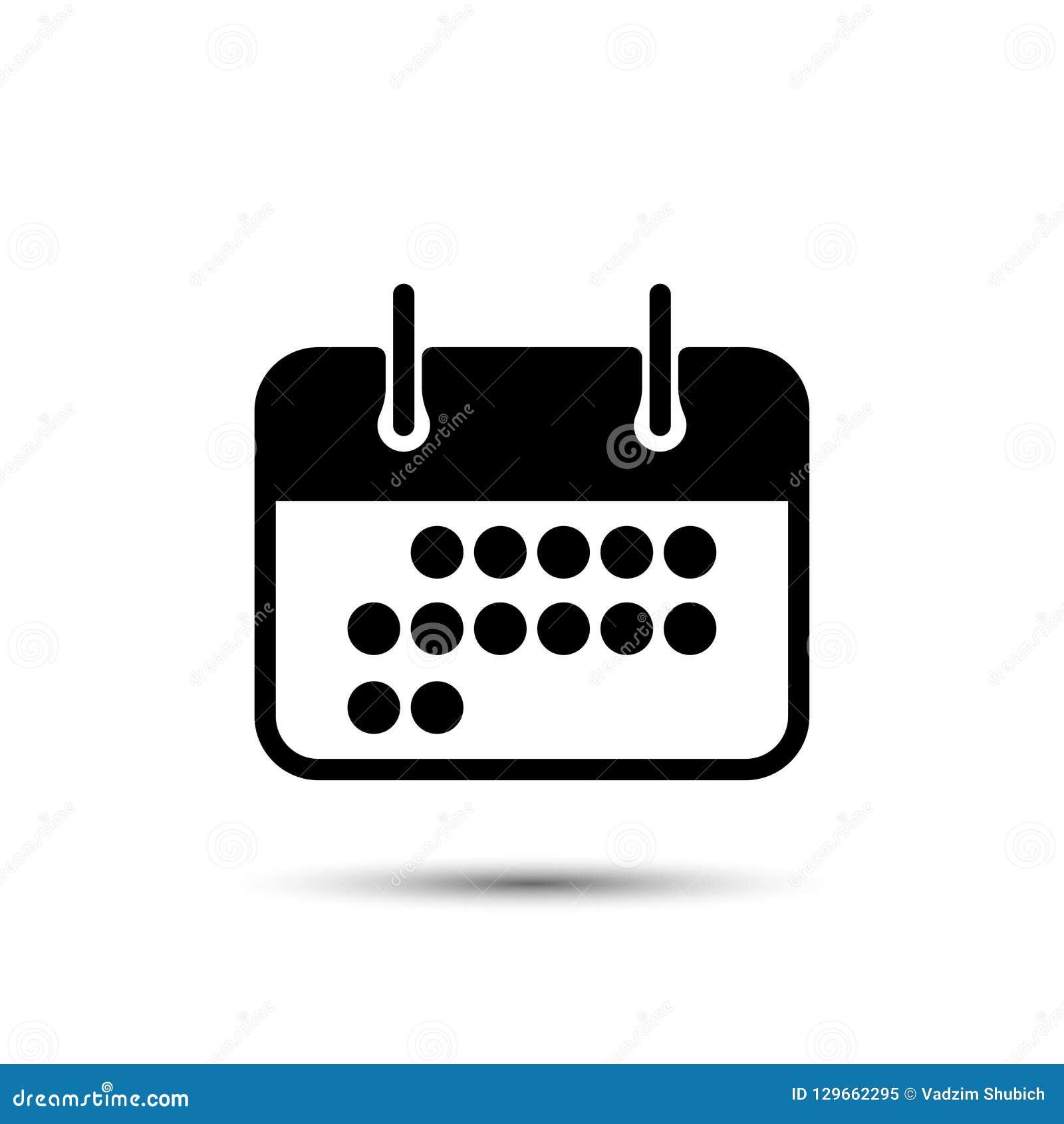 Lovely Calendar Date Icon Vector Illustration Flat Stock