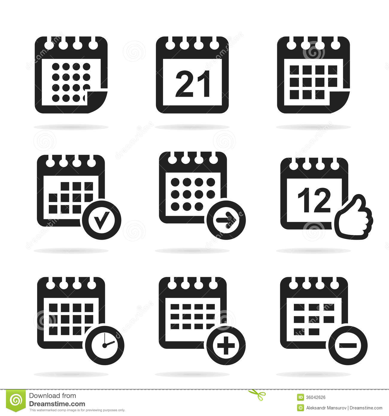 Calendar Illustration Vector : Calendar an icon royalty free stock image
