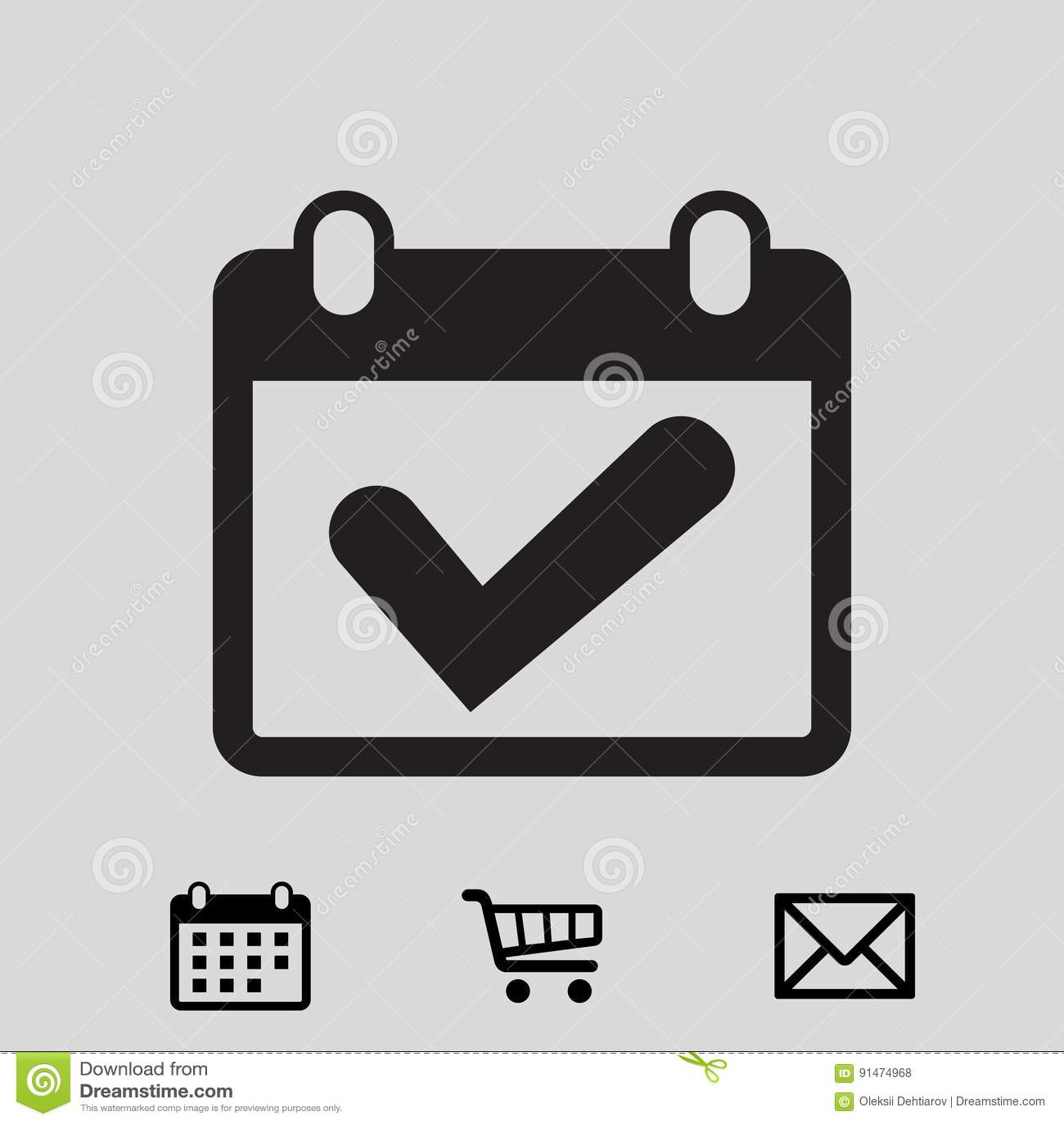Calendar Flat Illustration : Calendar icon stock vector illustration flat design