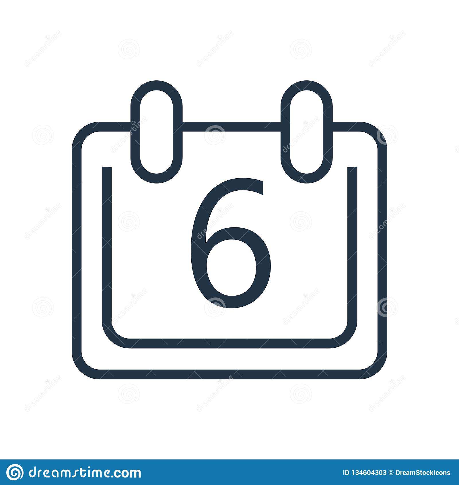 Calendario Vector Blanco.Calendar Icon Vector Isolated On White Background Calendar