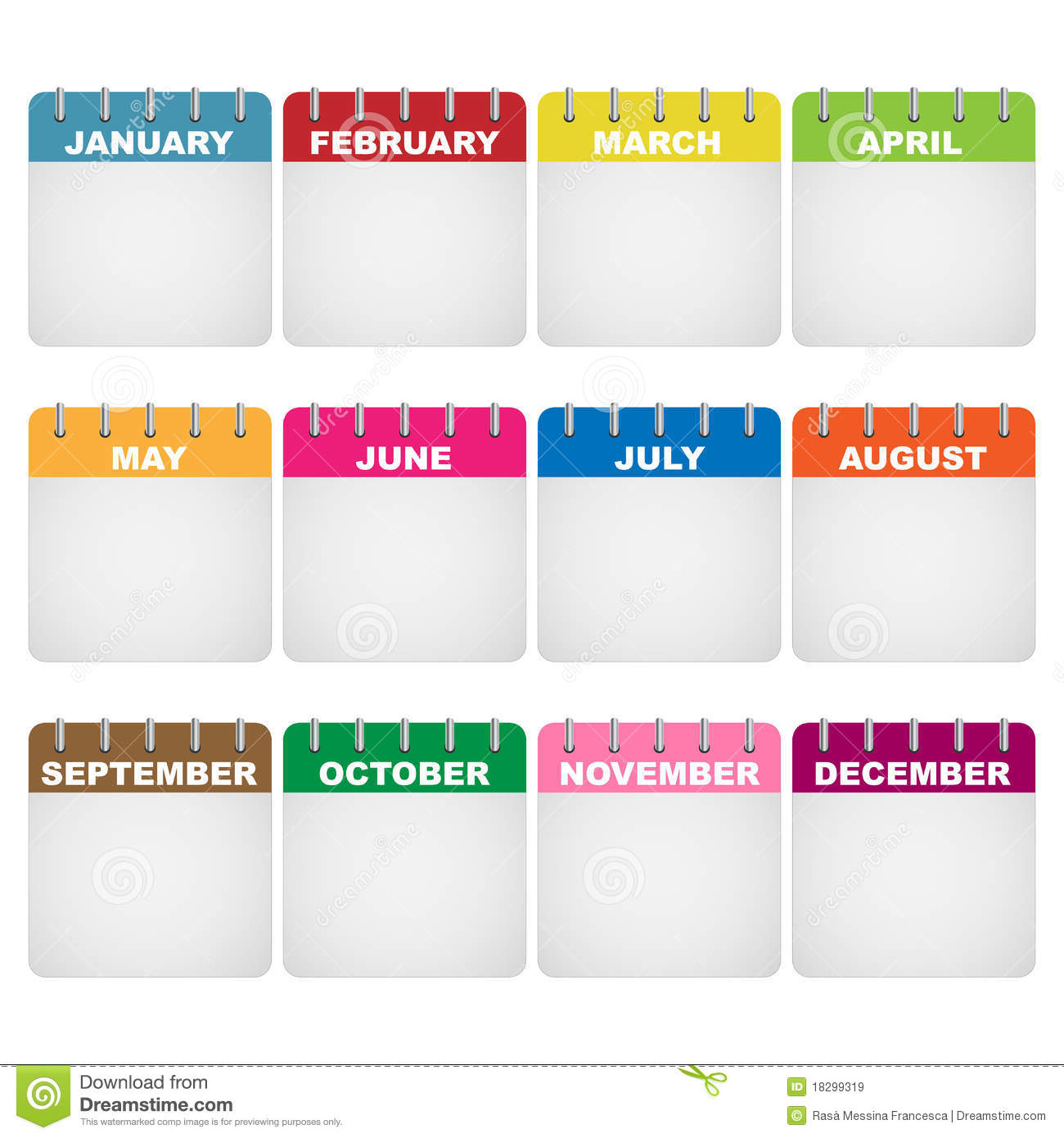 Monthly Calendar Clipart : Empty calendar icon images lamb lettuce leaves