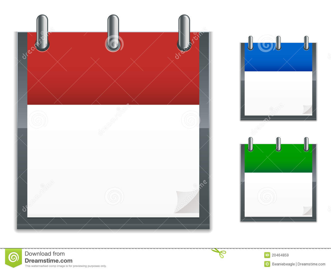 Calendar Icons Royalty Free Stock Images - Image: 20464859
