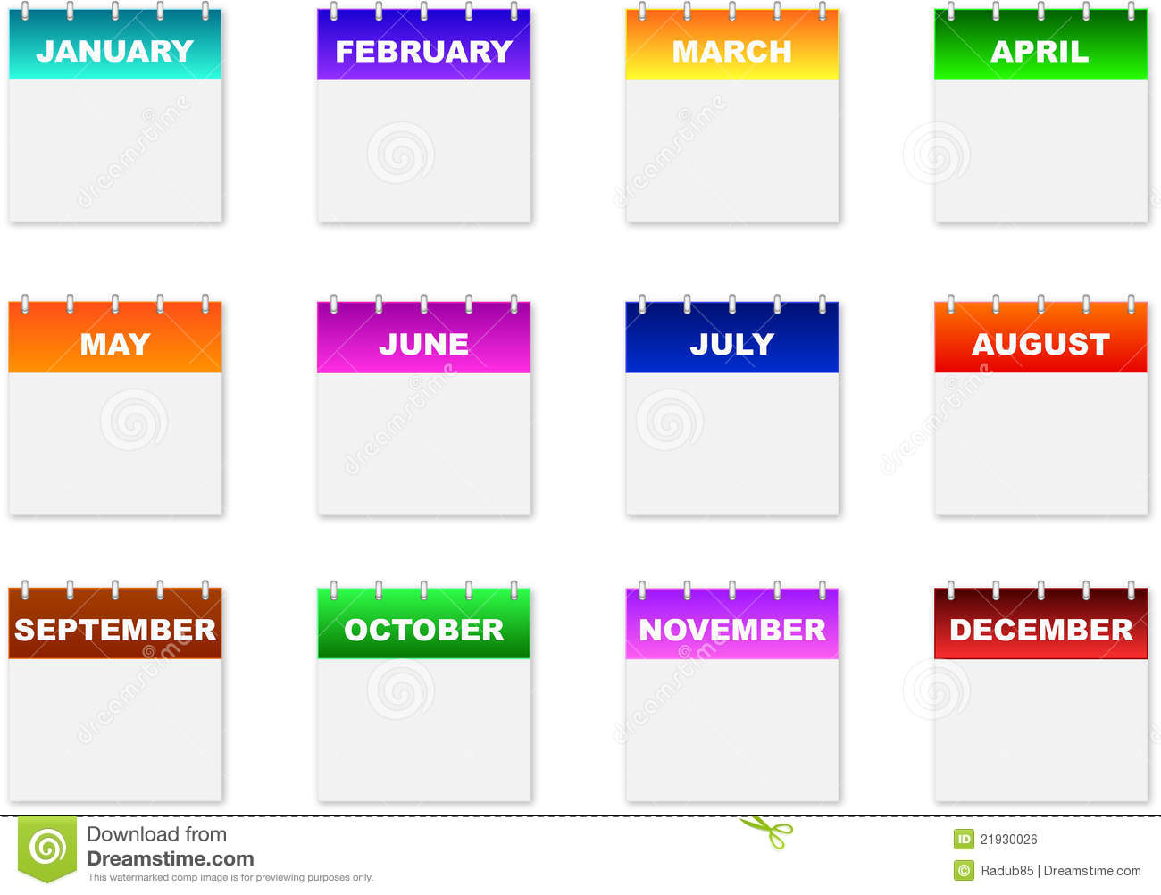 Calendar Icons Royalty Free Stock Image Image 21930026