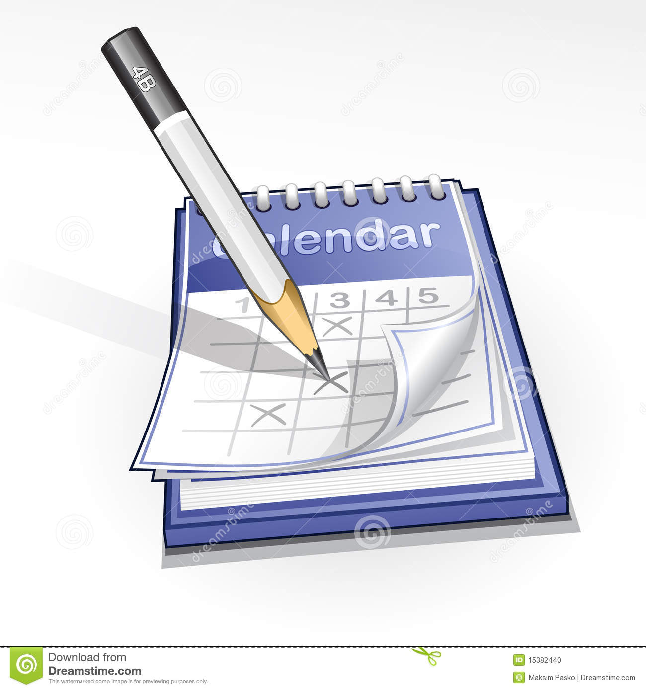 Calendar Illustrations : Calendar illustration stock vector image of marker