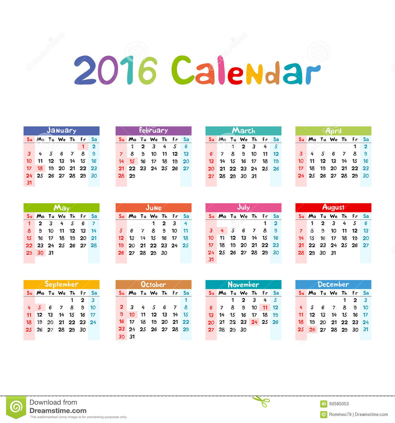 Calendar Illustration Vector : Calendar illustration vector kids hand made stock