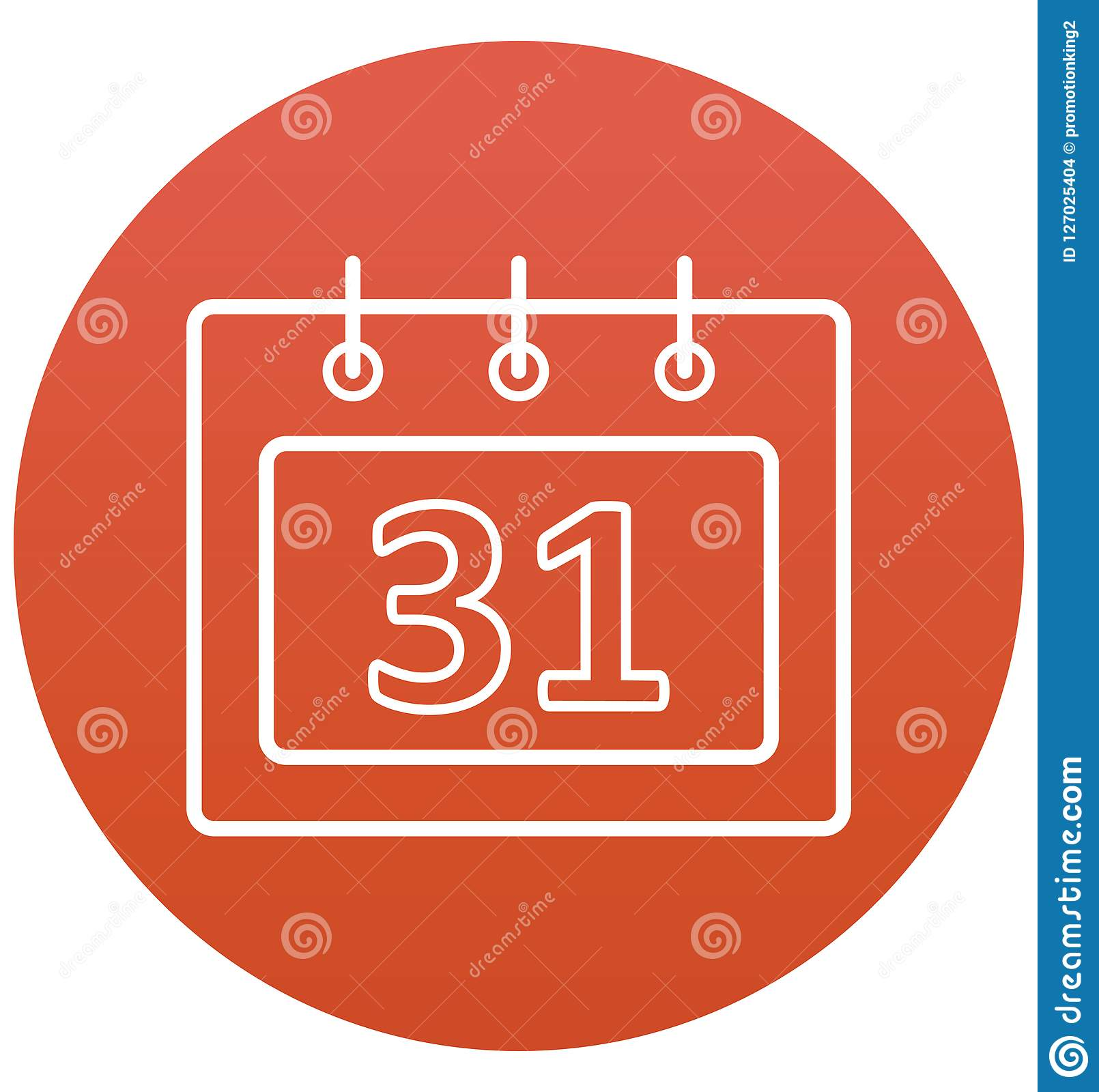 Calendar Isolated Vector With Line And Fill Icon Stock Vector