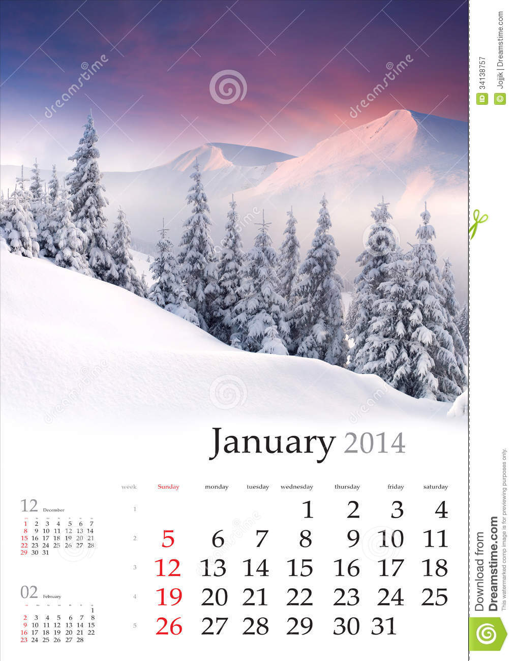 Calendar Vintage Vector : Calendar january royalty free stock photography