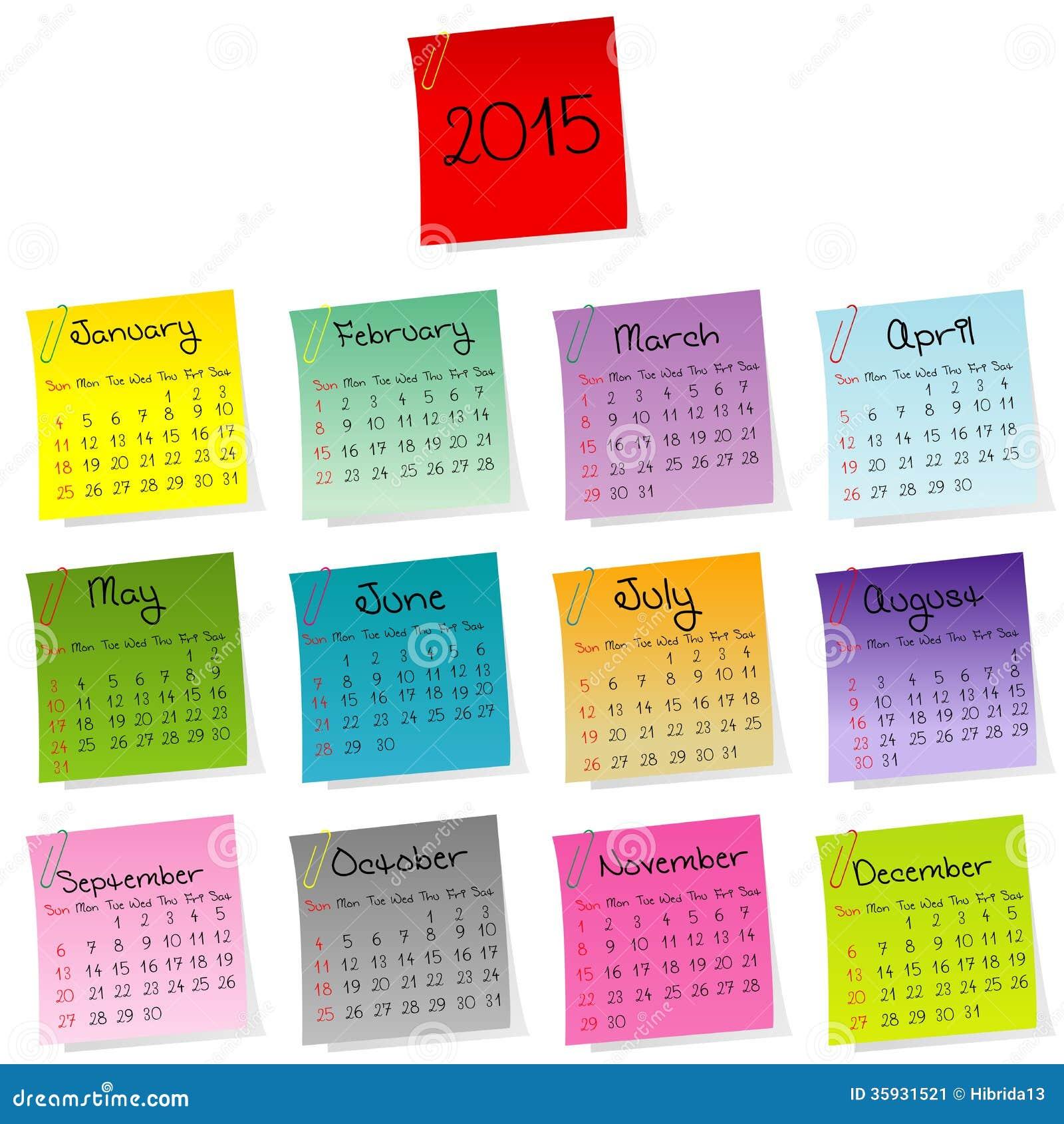 2015 calendar made of colored sheets of paper.  Размеры и лицензии фотографий Fotolia.  Цена за фото 2015 Calendar...