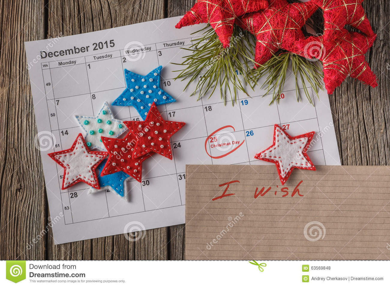 calendar with marked date of christmas day - Whens Christmas Day