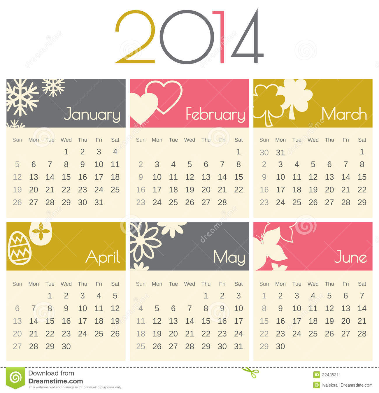 Royalty-Free Stock Photo. Download 2014 Calendar ...
