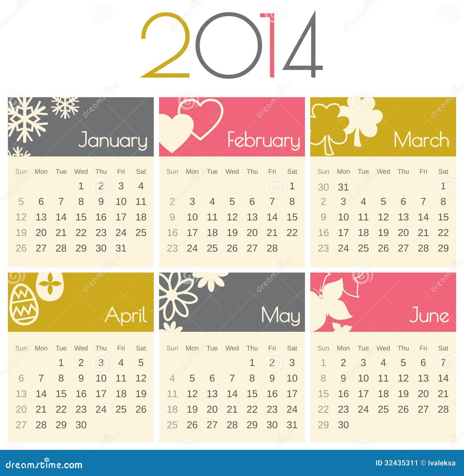 January Calendar Design : Calendar stock image