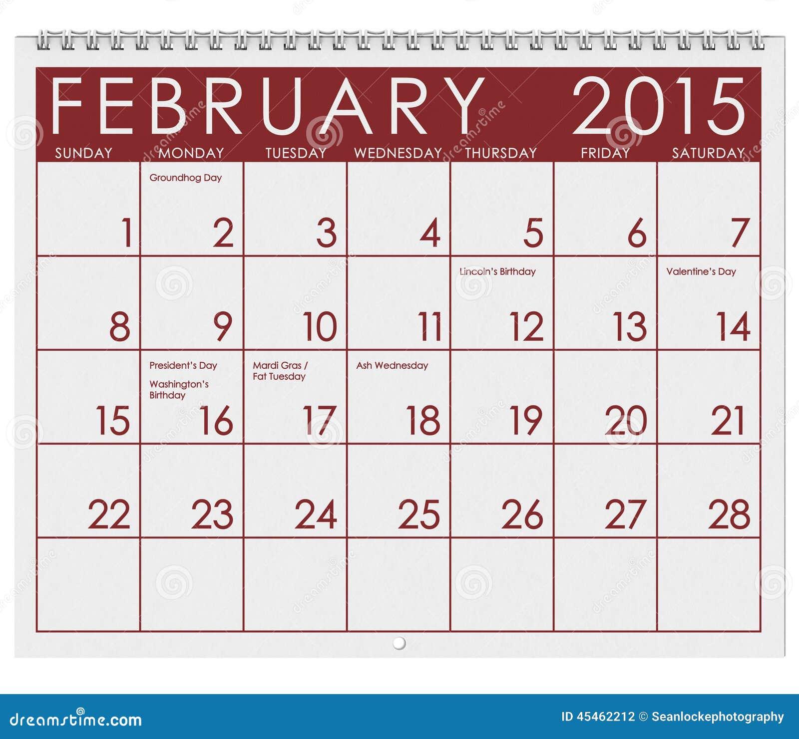 February Calendar Illustration : Calendar month of february stock illustration