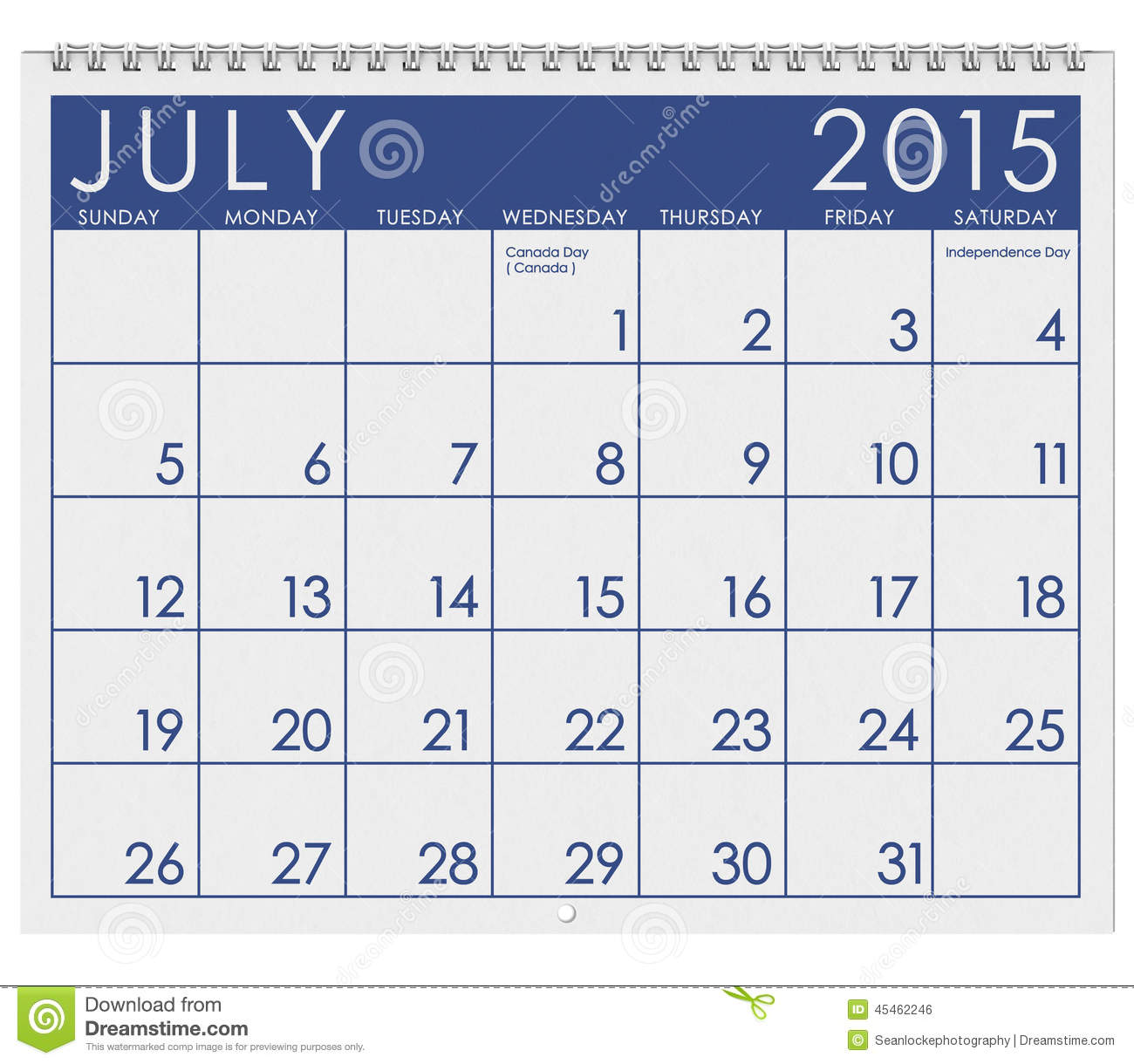 2015 calendar month of july stock illustration image for Rgpv time table 4 th sem 2015