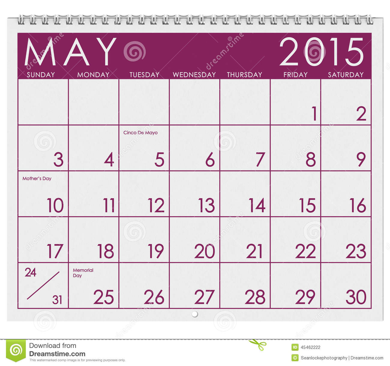 Xs Calendar May : Calendar month of may stock illustration image