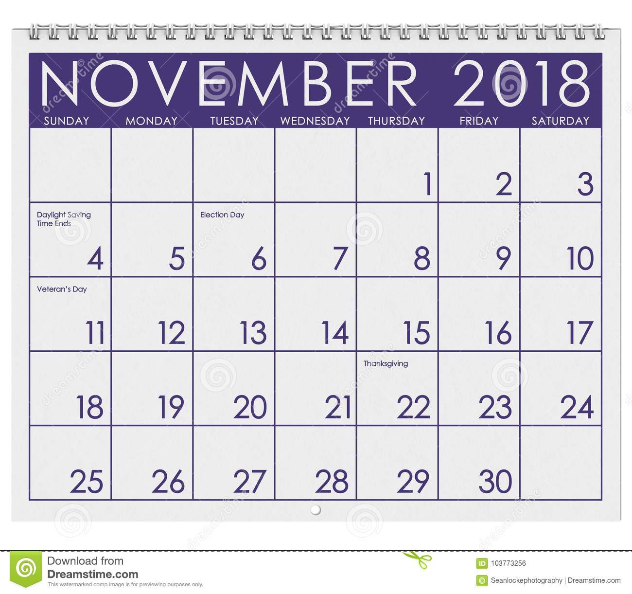 download 2018 calendar month of november with thanksgiving stock illustration illustration of 2018