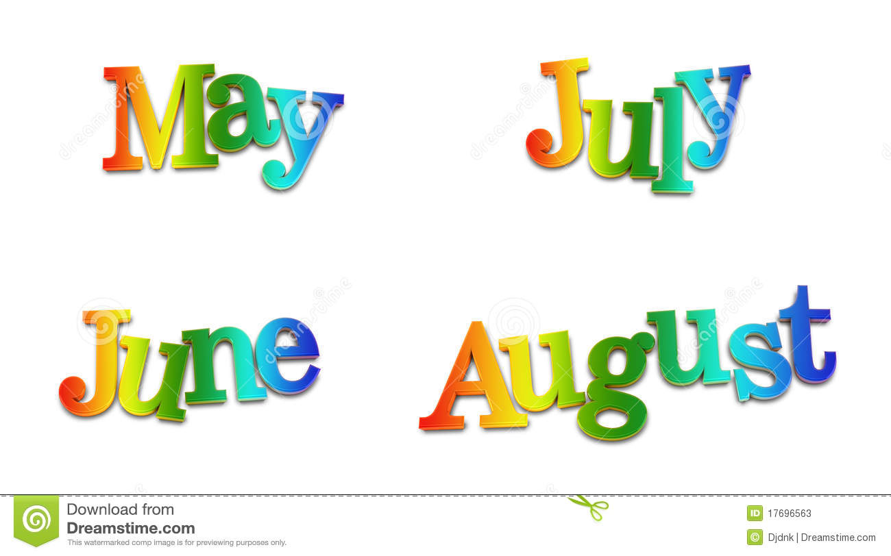 Calendar Months Stock Photos - Image: 17696563