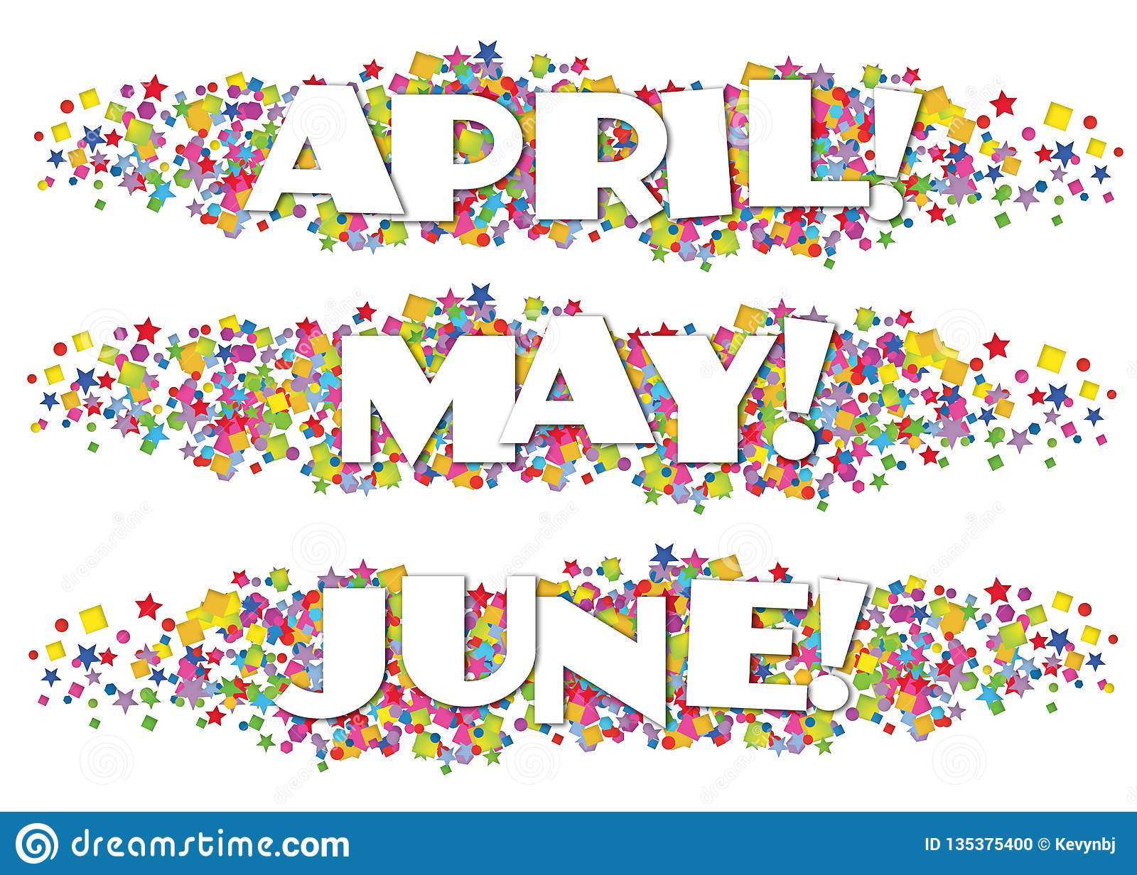 Calendar Months Newsletter Decorative April May June