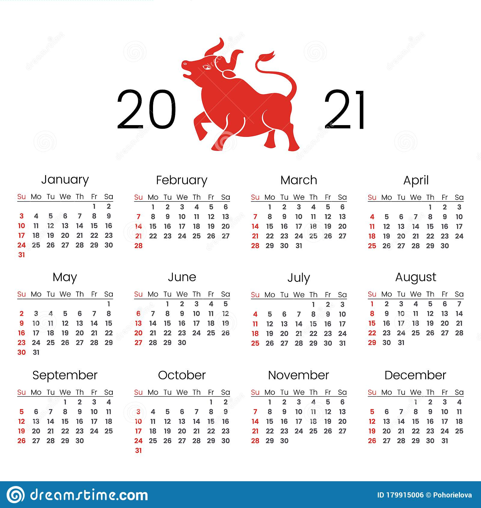2021 Chinese New Year Calendar Pictures