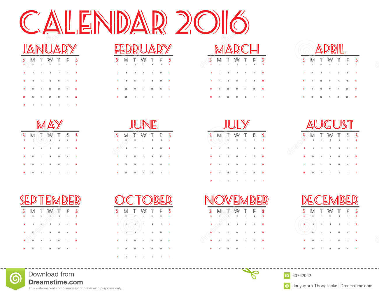 Year Calendar Starting : Calendar new year on white background week start