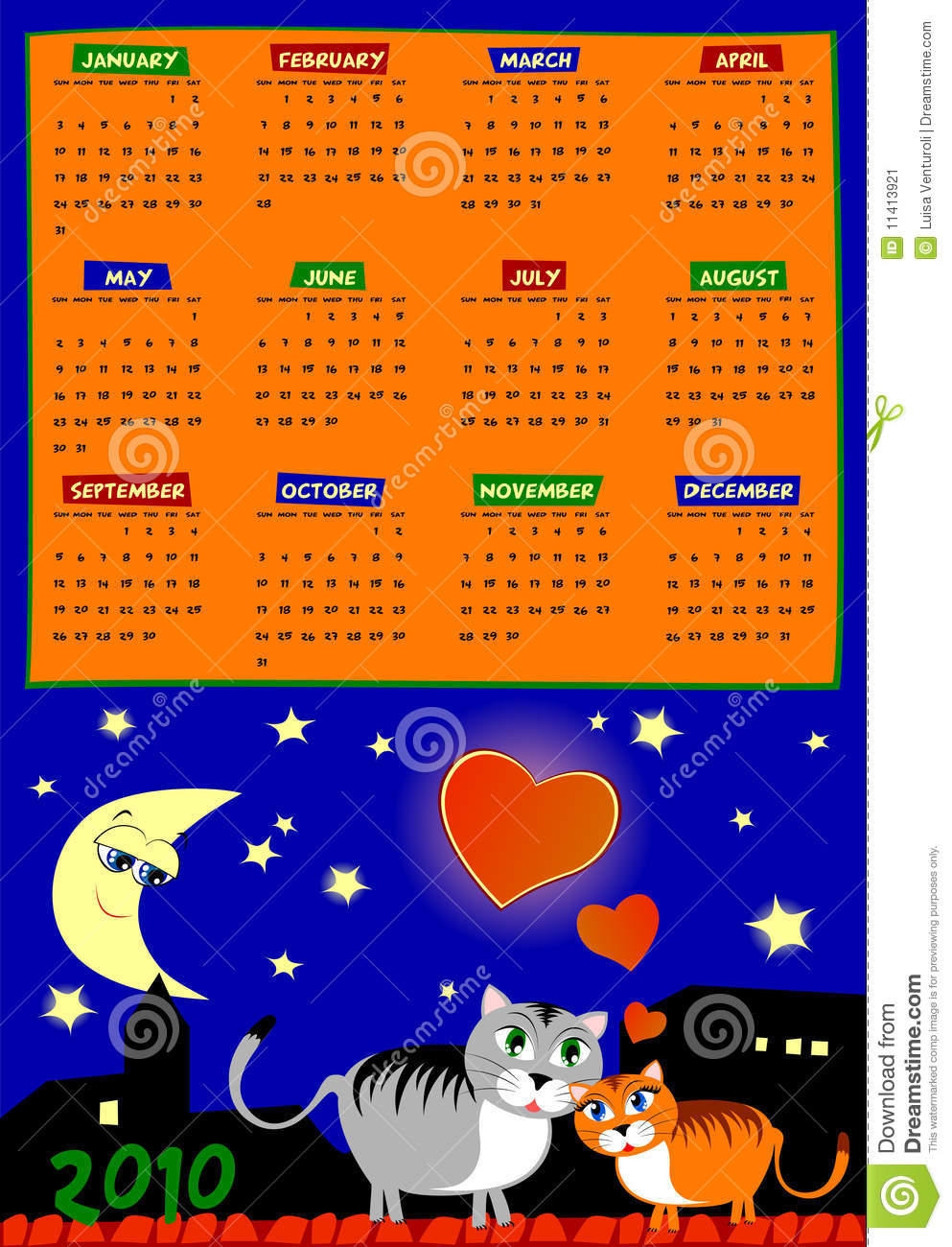Next Year Calendar : Calendar of next year stock image