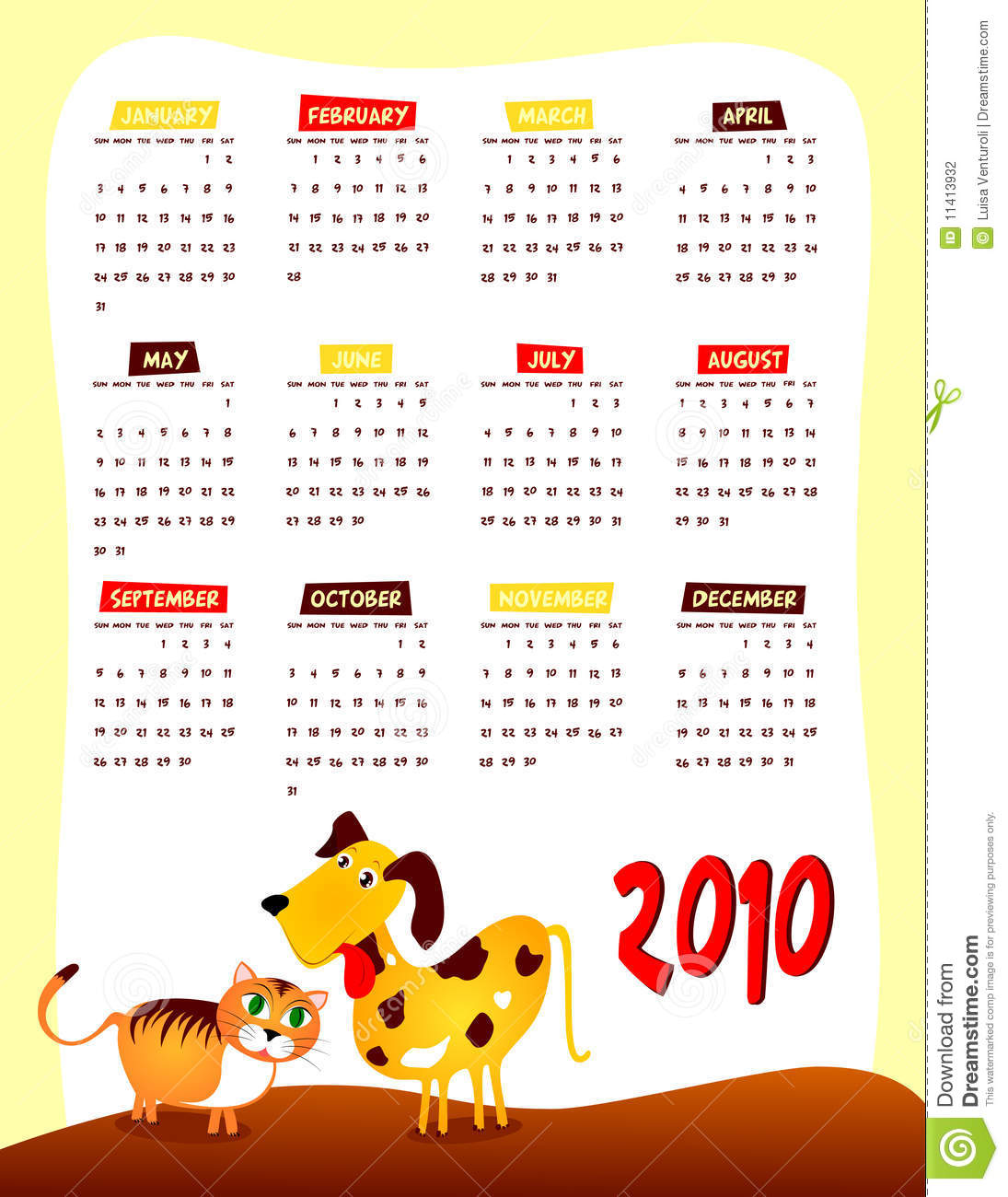 Next Year Calendar : Calendar of next year stock photography image