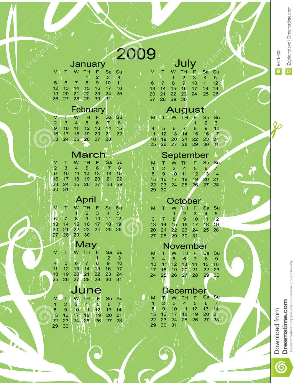 Next Year Calendar : Calendar for the next year stock photography image
