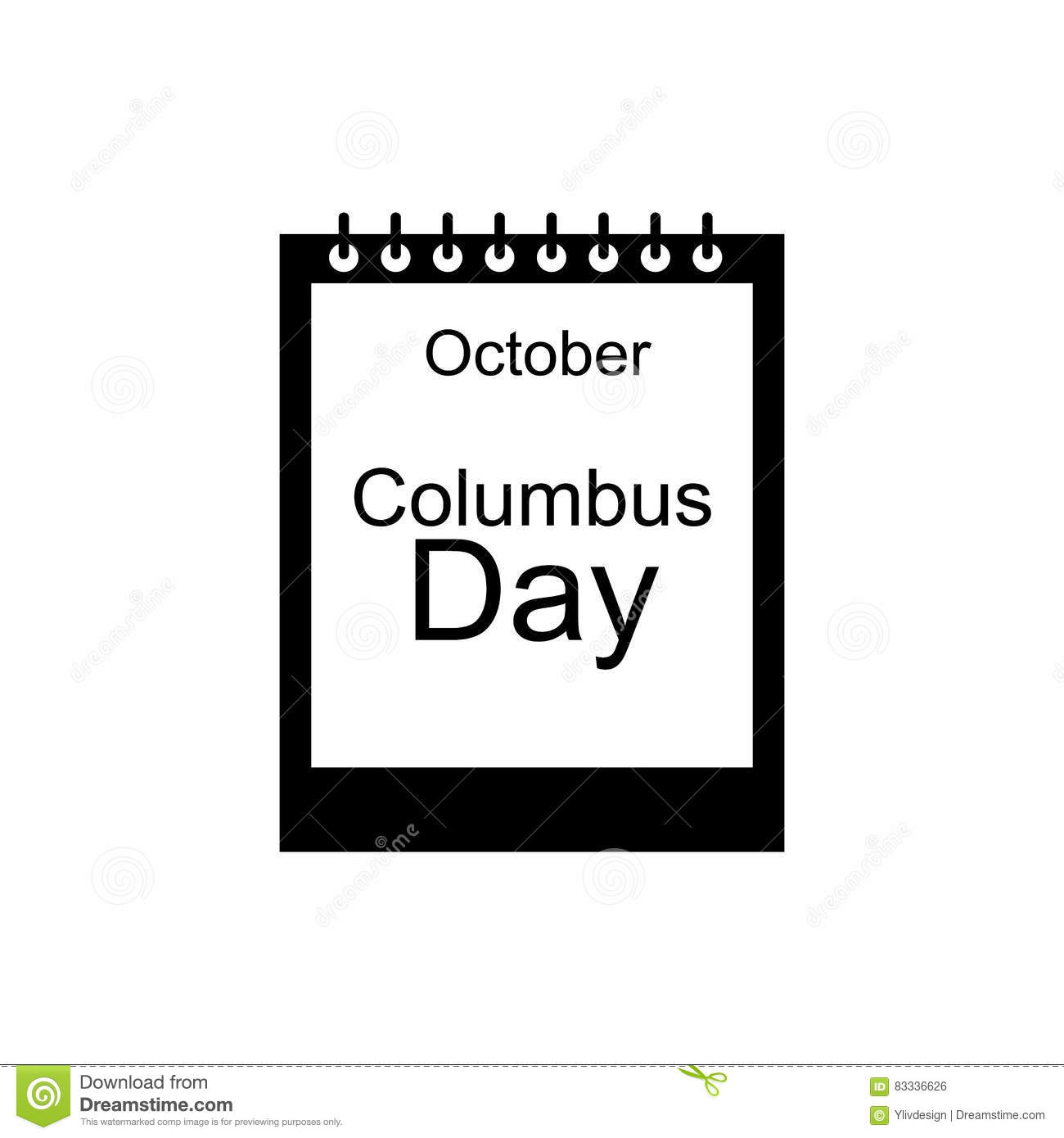 October 1. Day On The Calendar. Royalty-Free Illustration ...