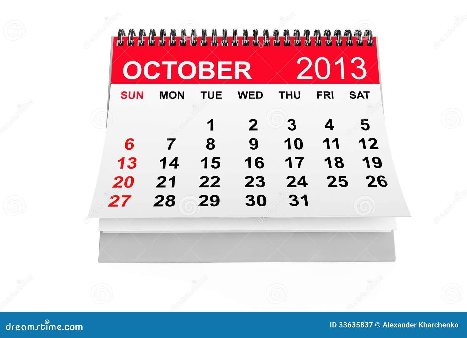 calendar october 2013 stock illustration illustration of numbers