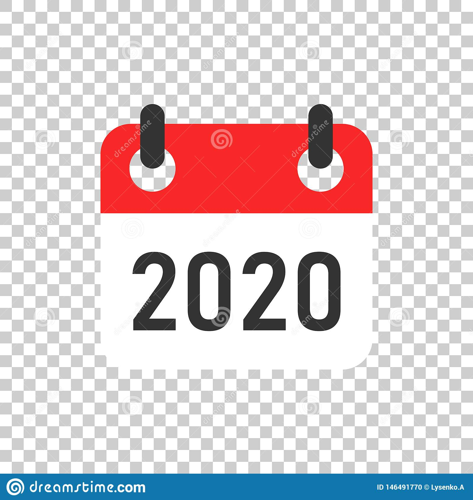 Calendar 2020 Organizer Icon In Transparent Style. Appointment
