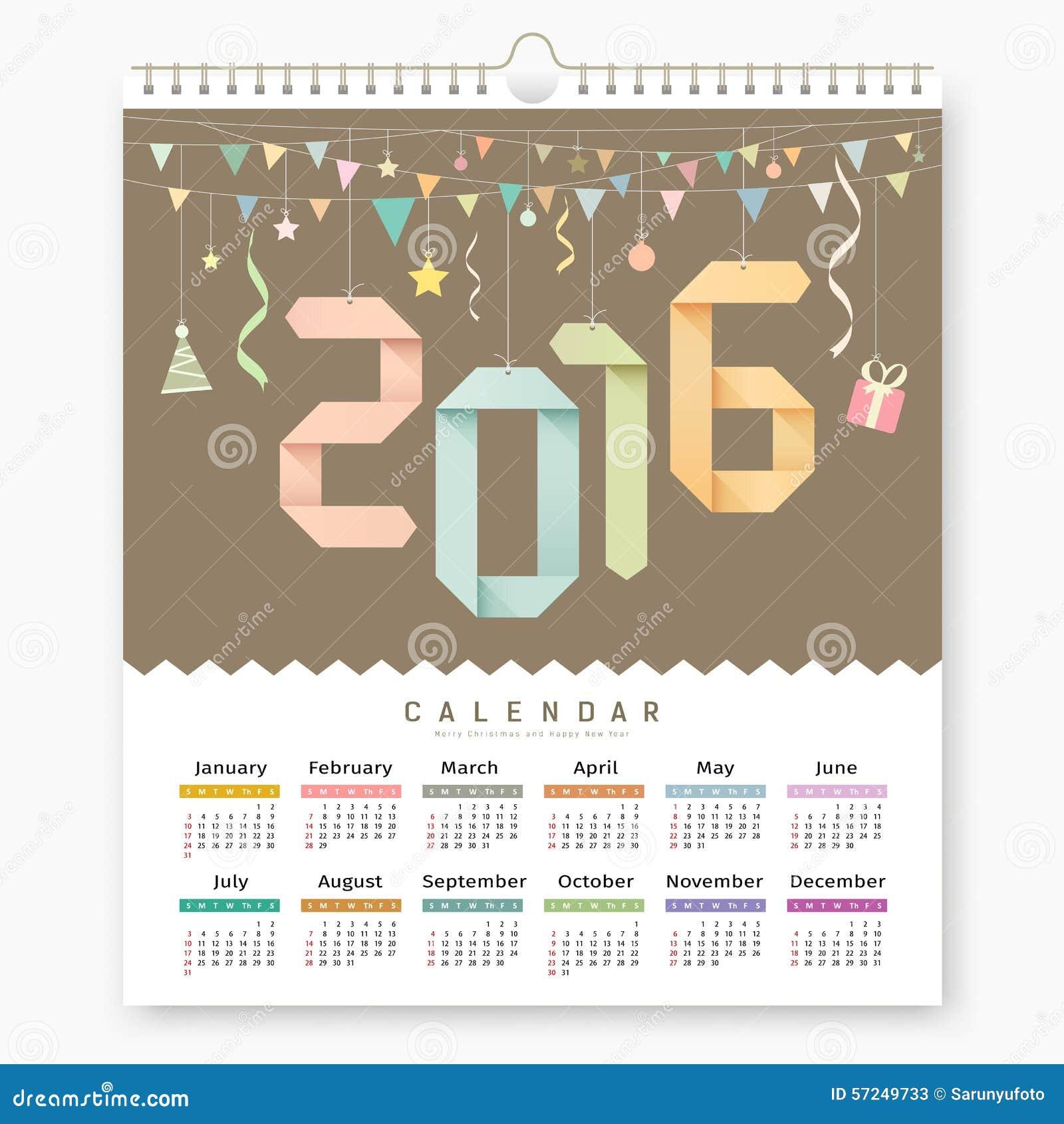 Calendar Number Design : Creative rainbow calendar cartoon vector