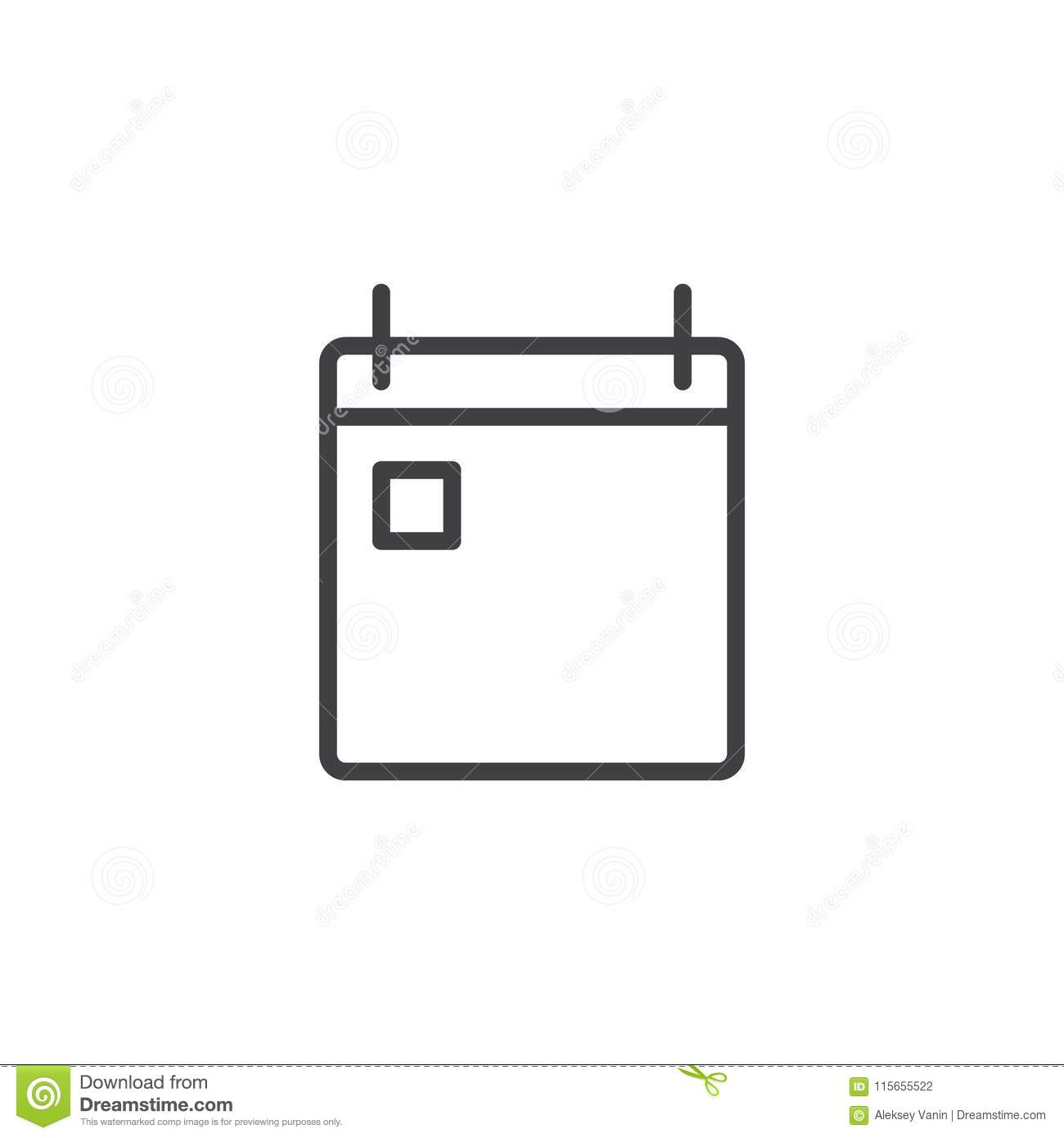 calendar outline icon stock vector illustration of office 115655522
