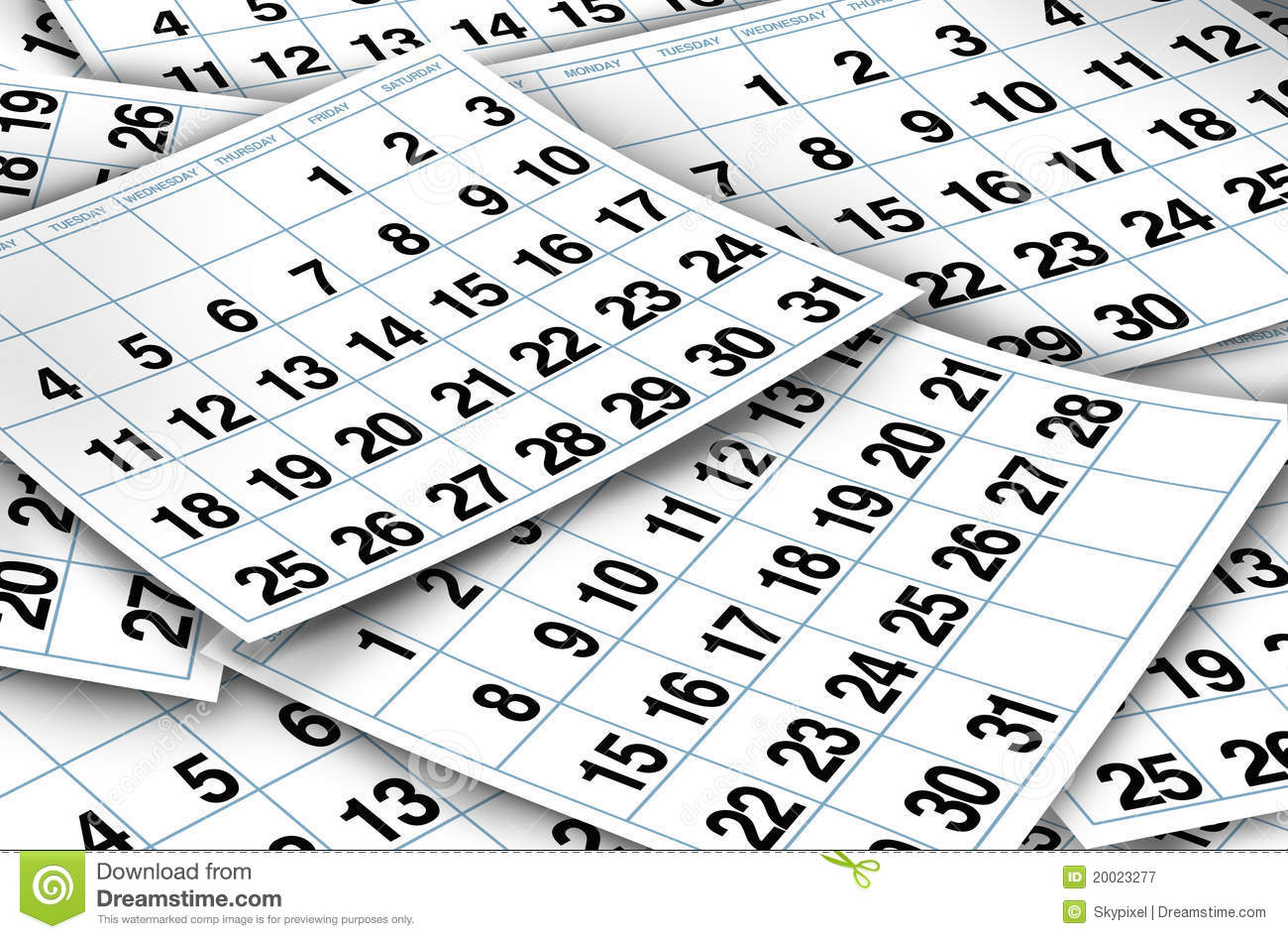 Calendar Pages : Calendar pages stock illustration image of diary