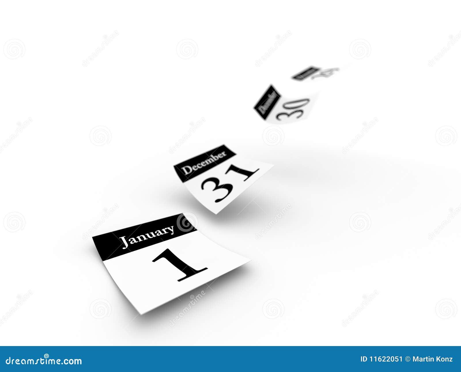 Defocused Calendar Pages Flying Away Royalty Free Stock ...