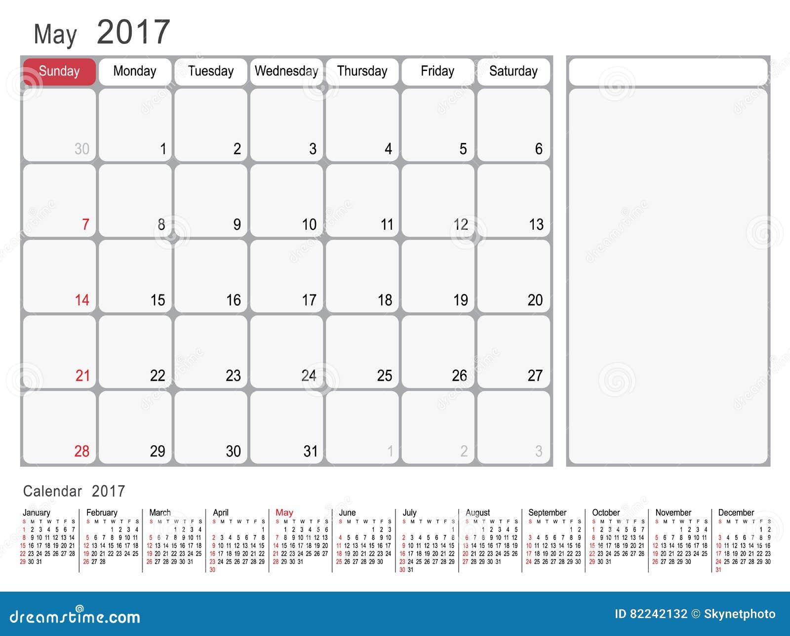 Calendar Planner May : Calendar planner may stock vector image