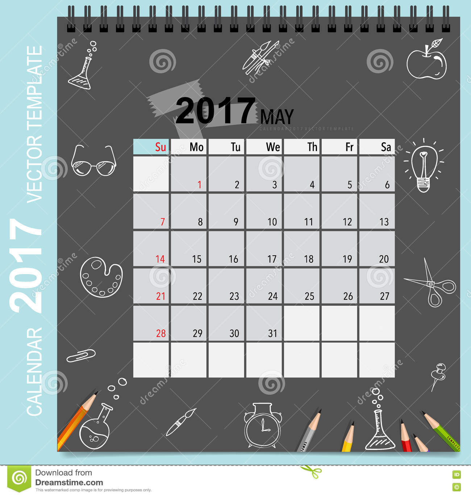 Calendar Planner Vector : Calendar planner vector design monthly