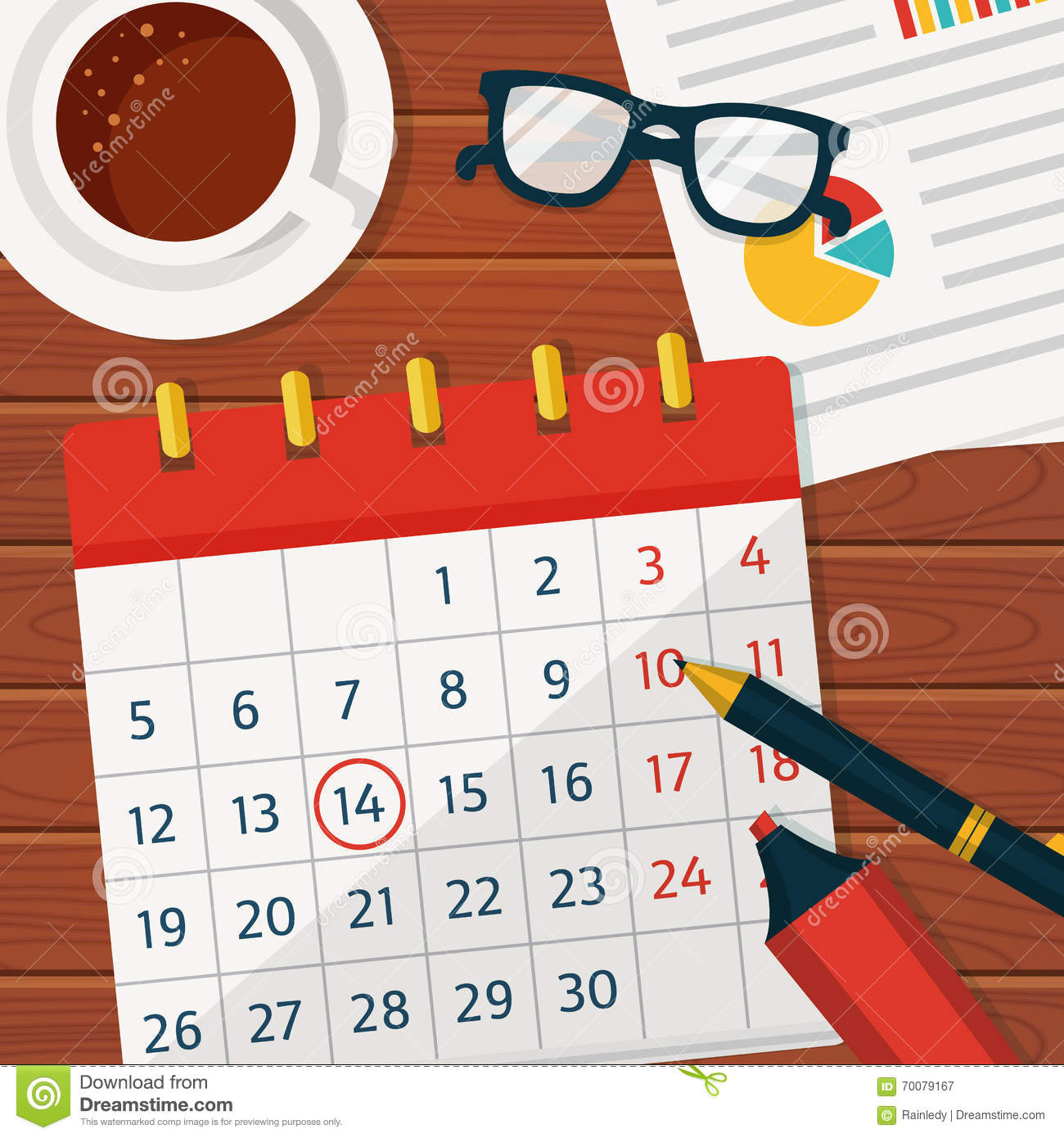 Calendar Planner Vector Free : Calendar planning vector concept background stock