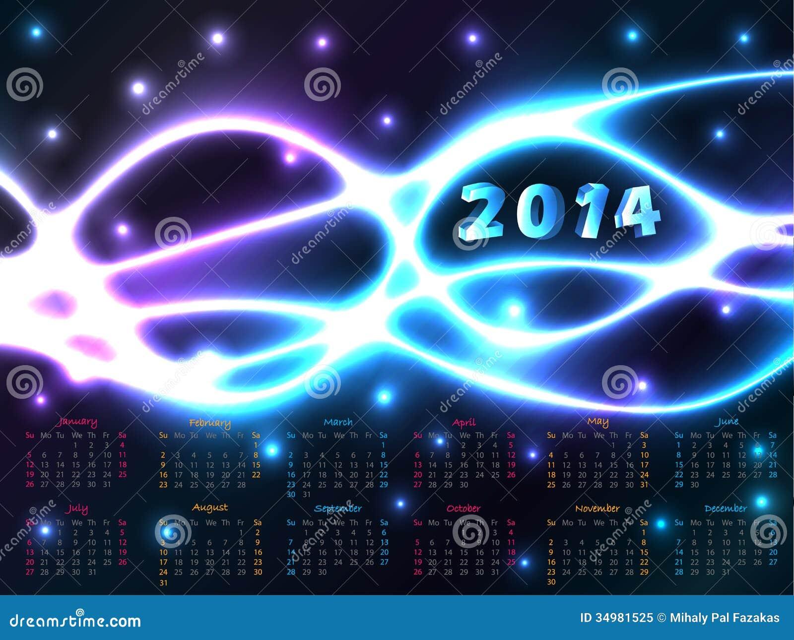 Calendar Background Design : Calendar with plasma background stock vector