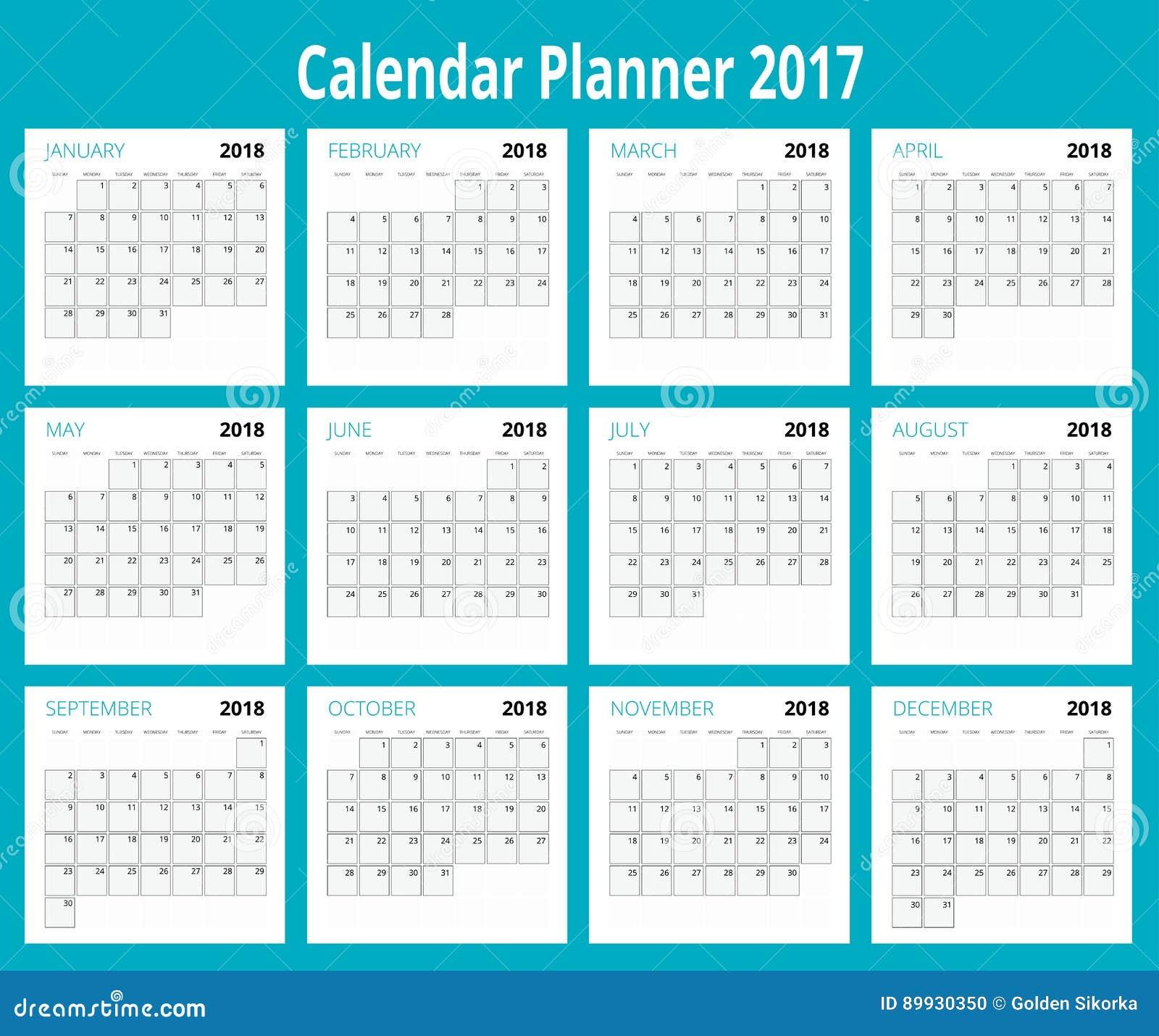 Calendar Illustration List : Calendar print template week starts sunday