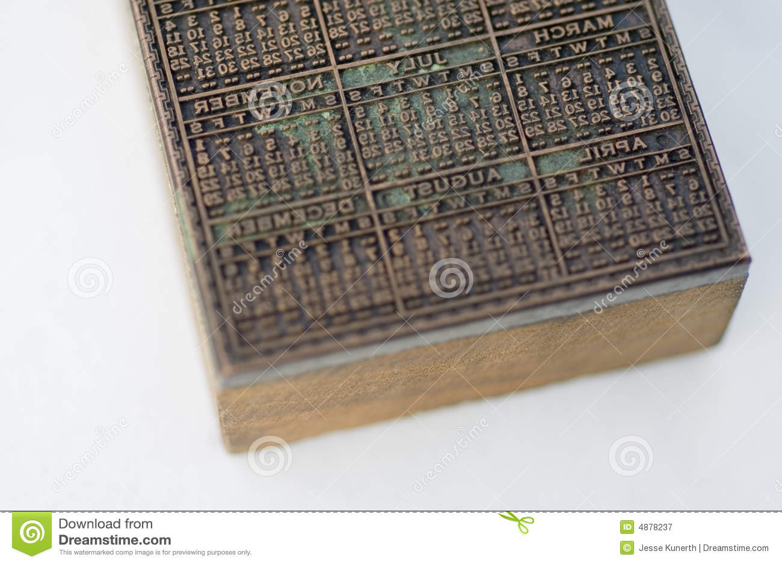 Photography Calendar Printing : Calendar printing block royalty free stock photography