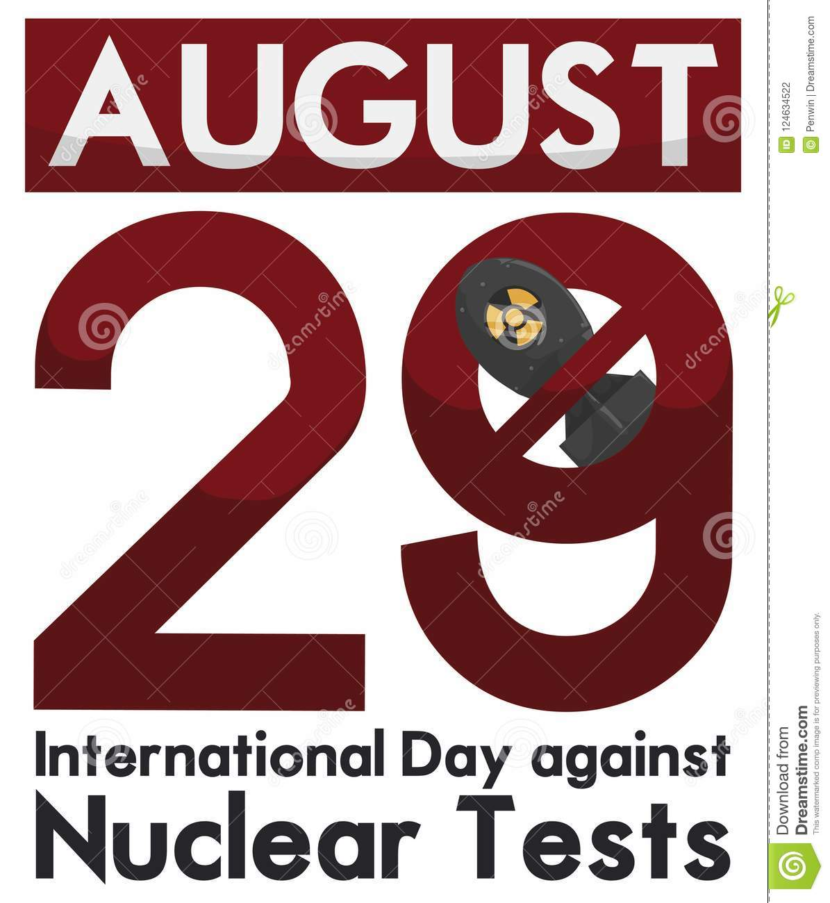 Calendar With Awareness Date For International Day Against Nuclear